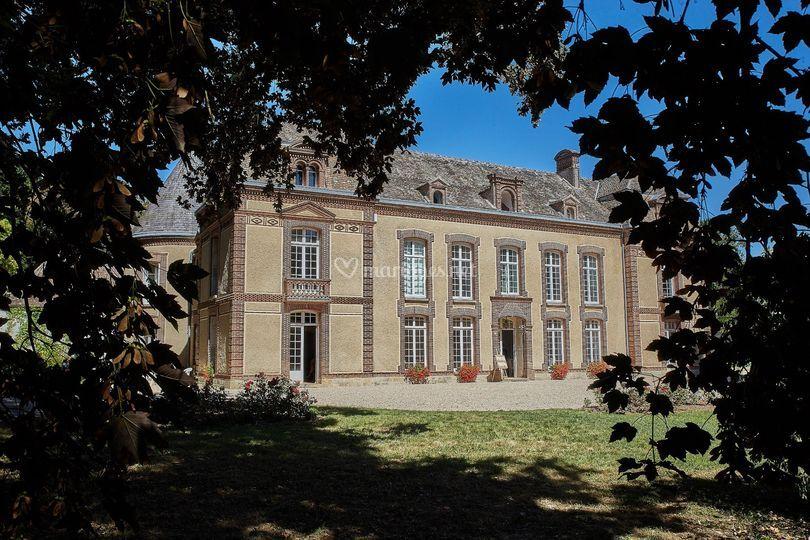 La façade sud du château