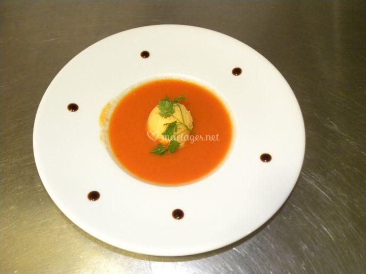 Gaspatcho, sorbet Tomates