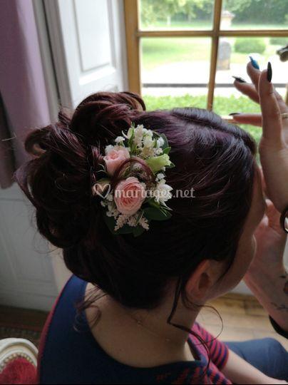 Barrette cheveux mariée