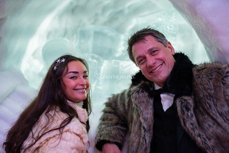 E & L, mariés d'hiver