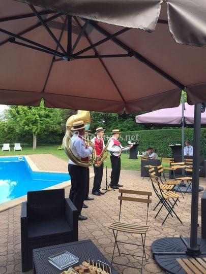 Groupe de Jazz lors du vin d'honneur
