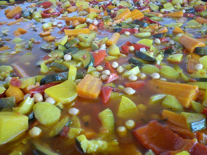 Légumes couscous frais