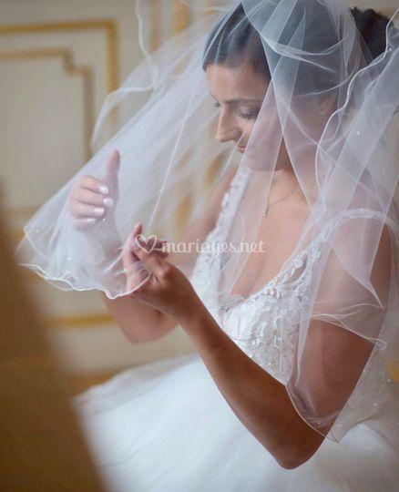 Coiffage et maquillage mariée
