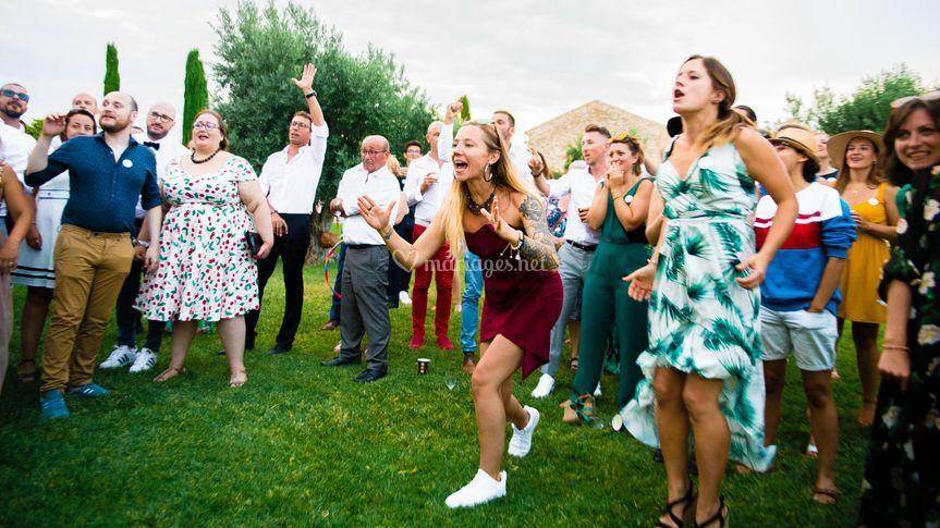 Photo des invités mariage