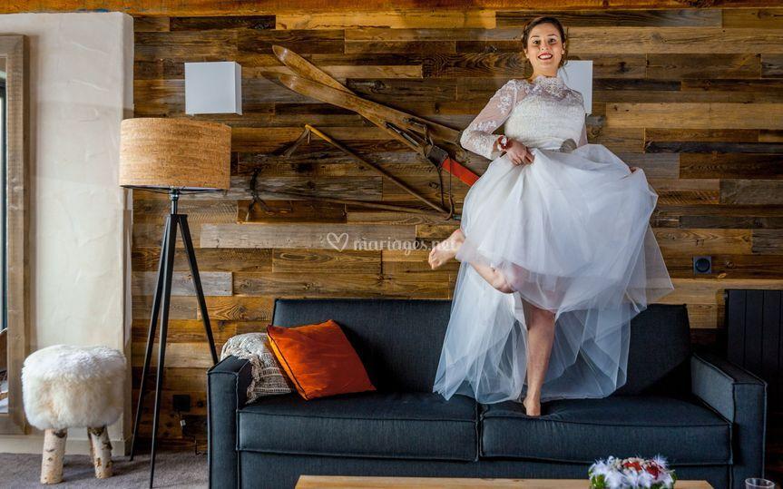 Photo de mariage fun
