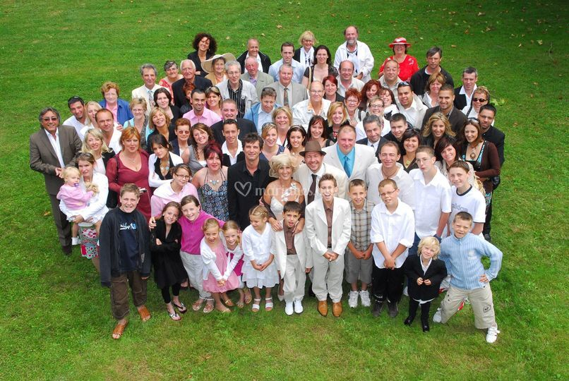 Photo groupe mariage Indre ValérieM