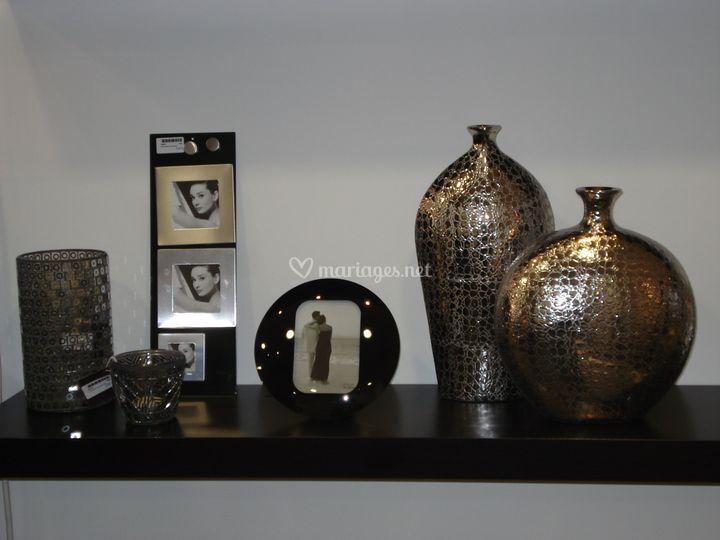 Vases et cadres photos