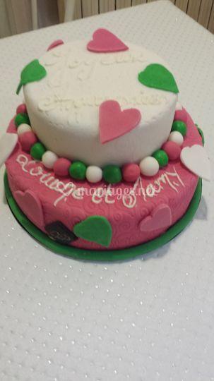 Wedding cake anniversaire