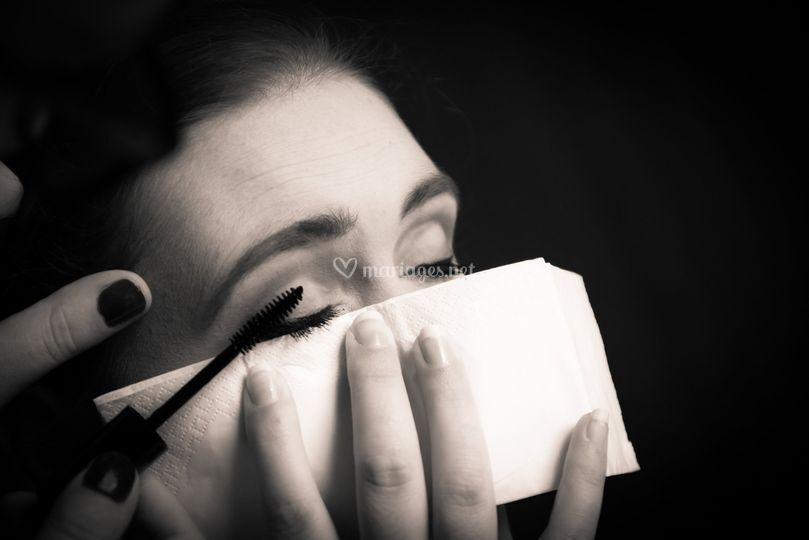 Les préparatifs,  le maquillag
