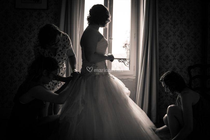 Demoiselles honneur et la robe