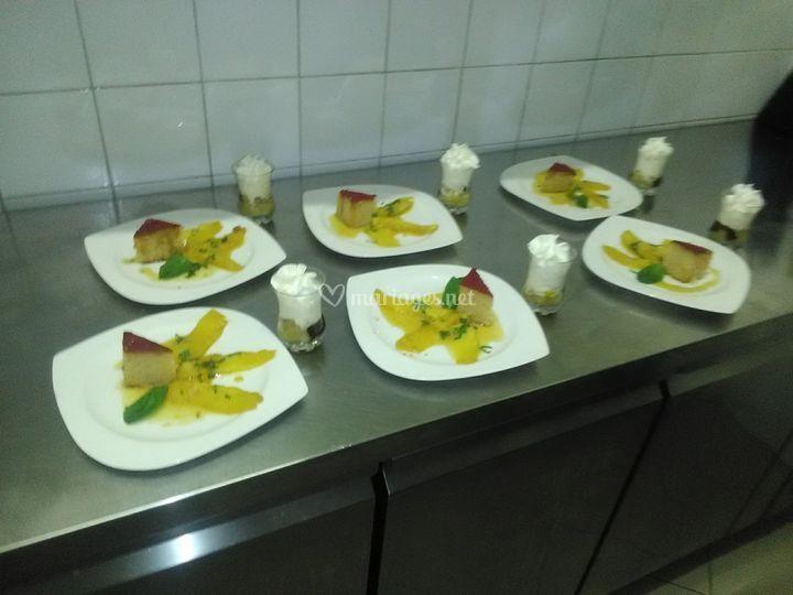 Salade de fruits & coquelicot