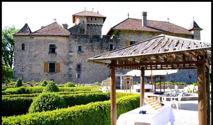 Jardin arrière du château