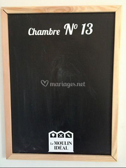 Ardoise de la chambre n°13