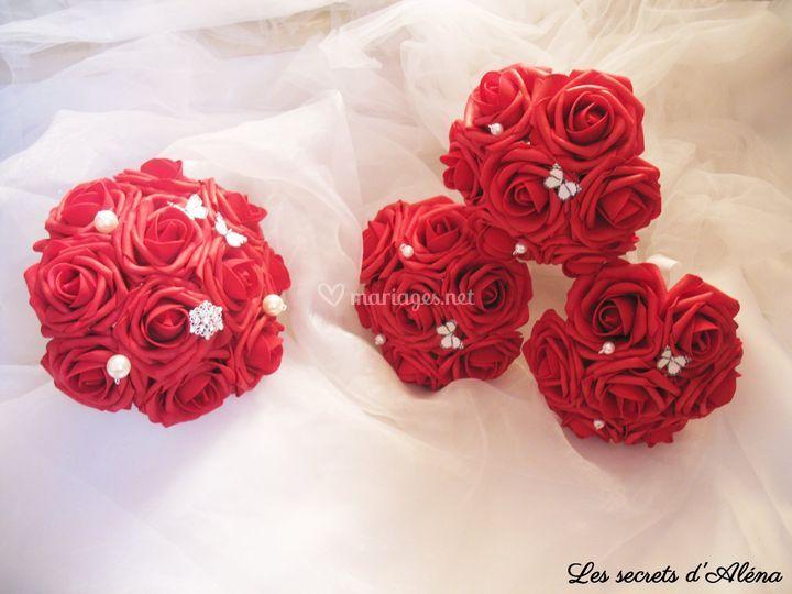 Bouquet mariée et cortège