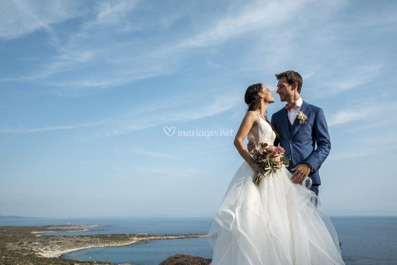 Photo de mariage route bonifac