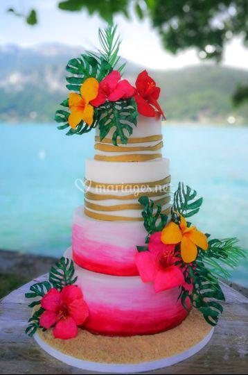 Wedding cake tropical Annecy