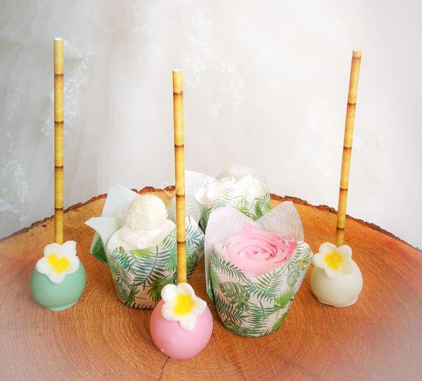 Cake pops et cupcakes