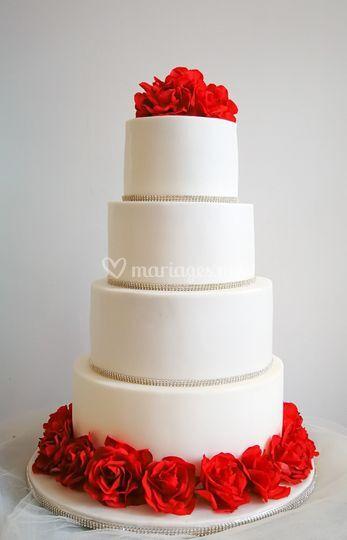 Wedding cake sobre élégant