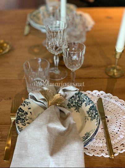 Table Champêtre & Or