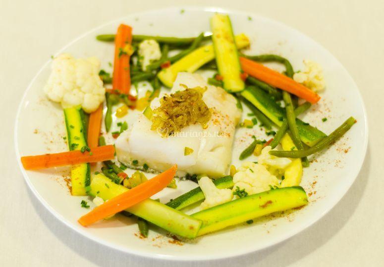 Cabillaud au Yuzu Légumes