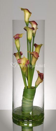 Decoration Florale Vase Conique Mariage