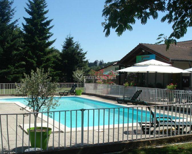 La zone de la piscine