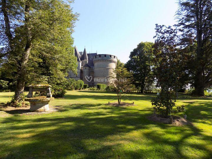 Château depuis le parc