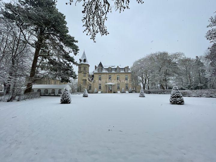 Domaine sous la neige