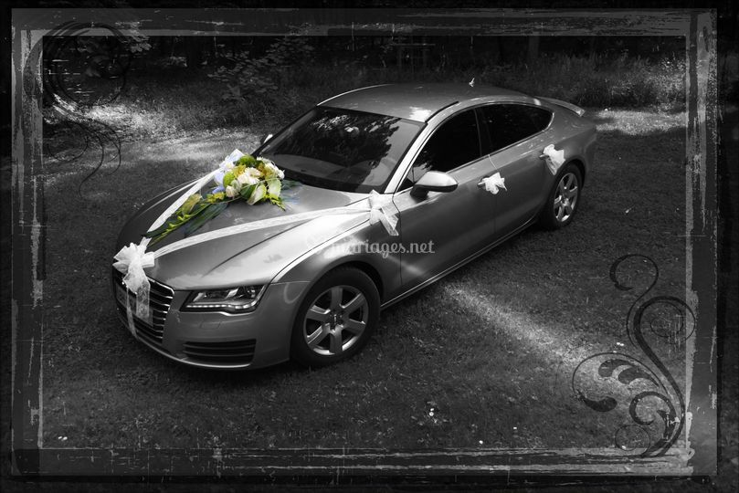 decoration voiture mariage audi. Black Bedroom Furniture Sets. Home Design Ideas