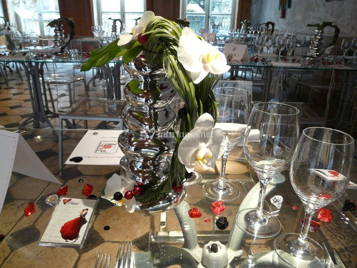 Centre de table de la tour rose photo 12 - Centre de table restaurant ...