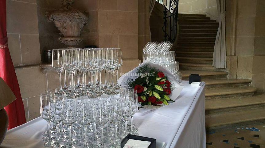 Cocktail dans le hall