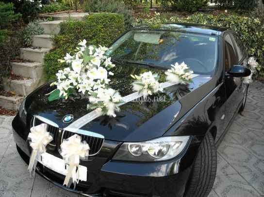 Décoration voiture des mariés
