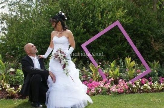 Mariés dans les jardins