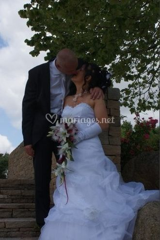 Mariés et bouquet