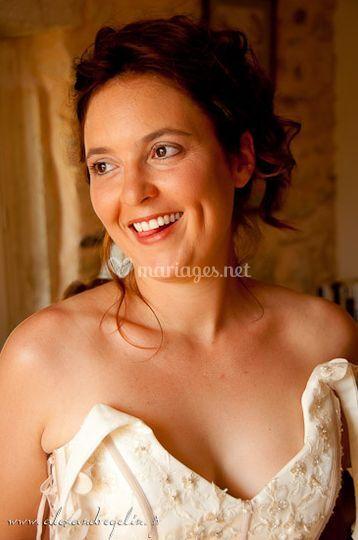 La mariée souriante