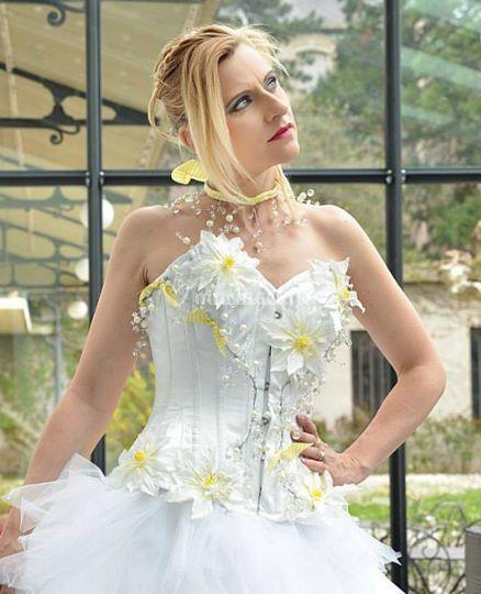 Robe de mariée fleurs