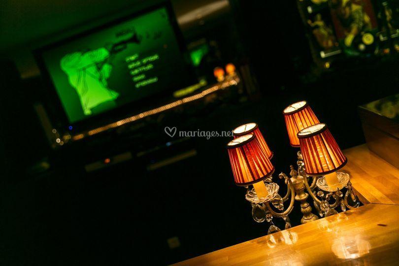 Bar discothèque au sous sol