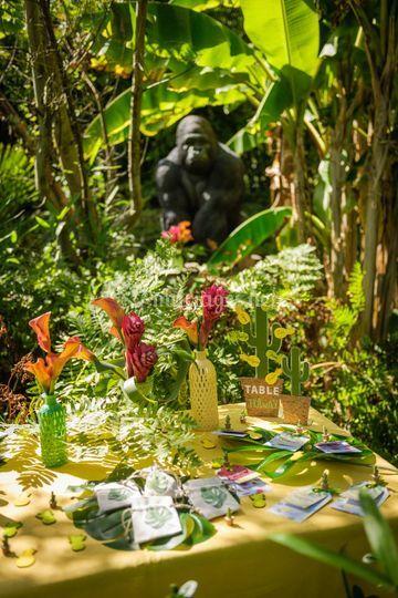Déco de table tropical