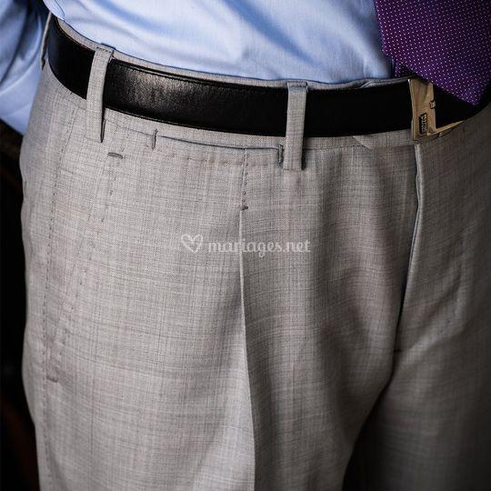 Finitions pantalon cousu main