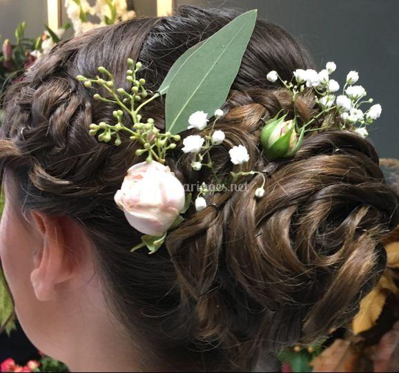 Coiffure florale