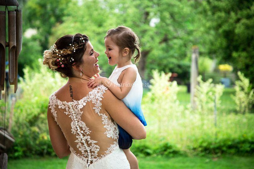 La mariée et sa princesse
