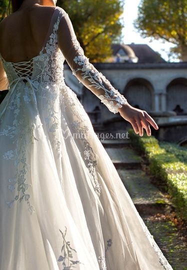 Robe princesse traîne chapelle
