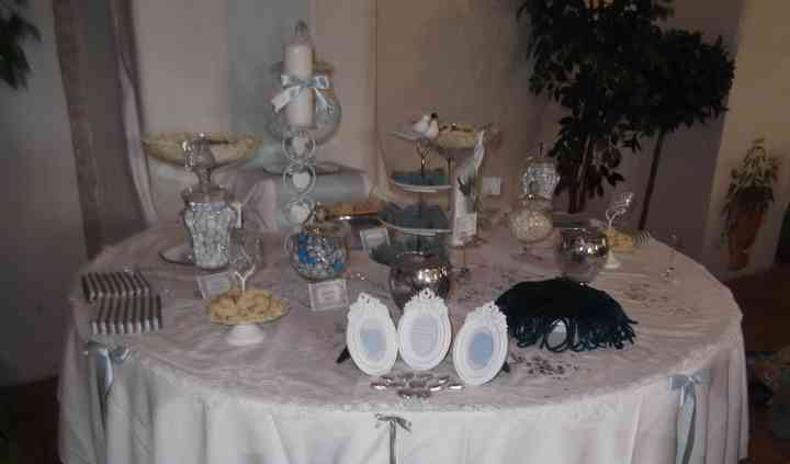 Table de mariage Blanc en Blue