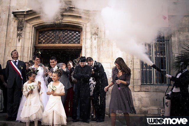 Echassier Dandy avec les mariés