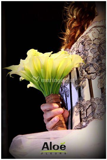 Bouquet rond Aloé Fleurs