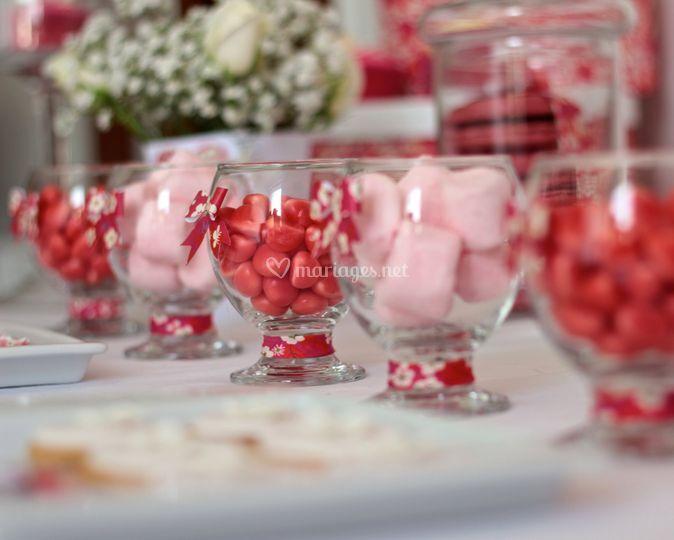 Détail sweet table en liberty