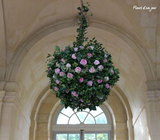 Grosse boule fleurs fraiches