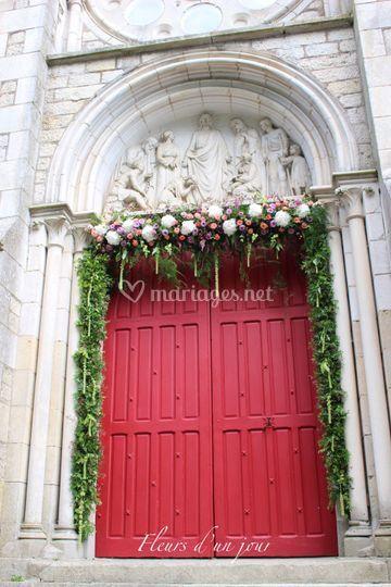 Entrée église mariage