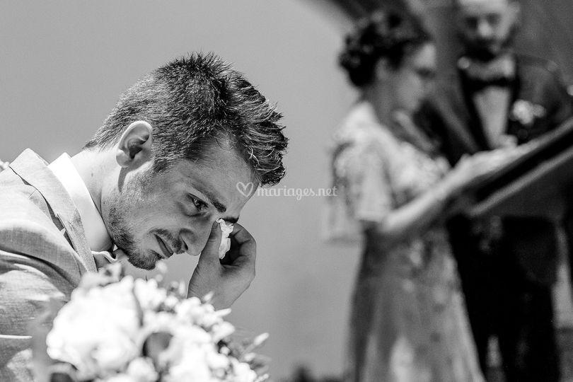 L'émotion du marié