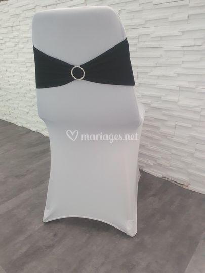 Housse de chaise blanc